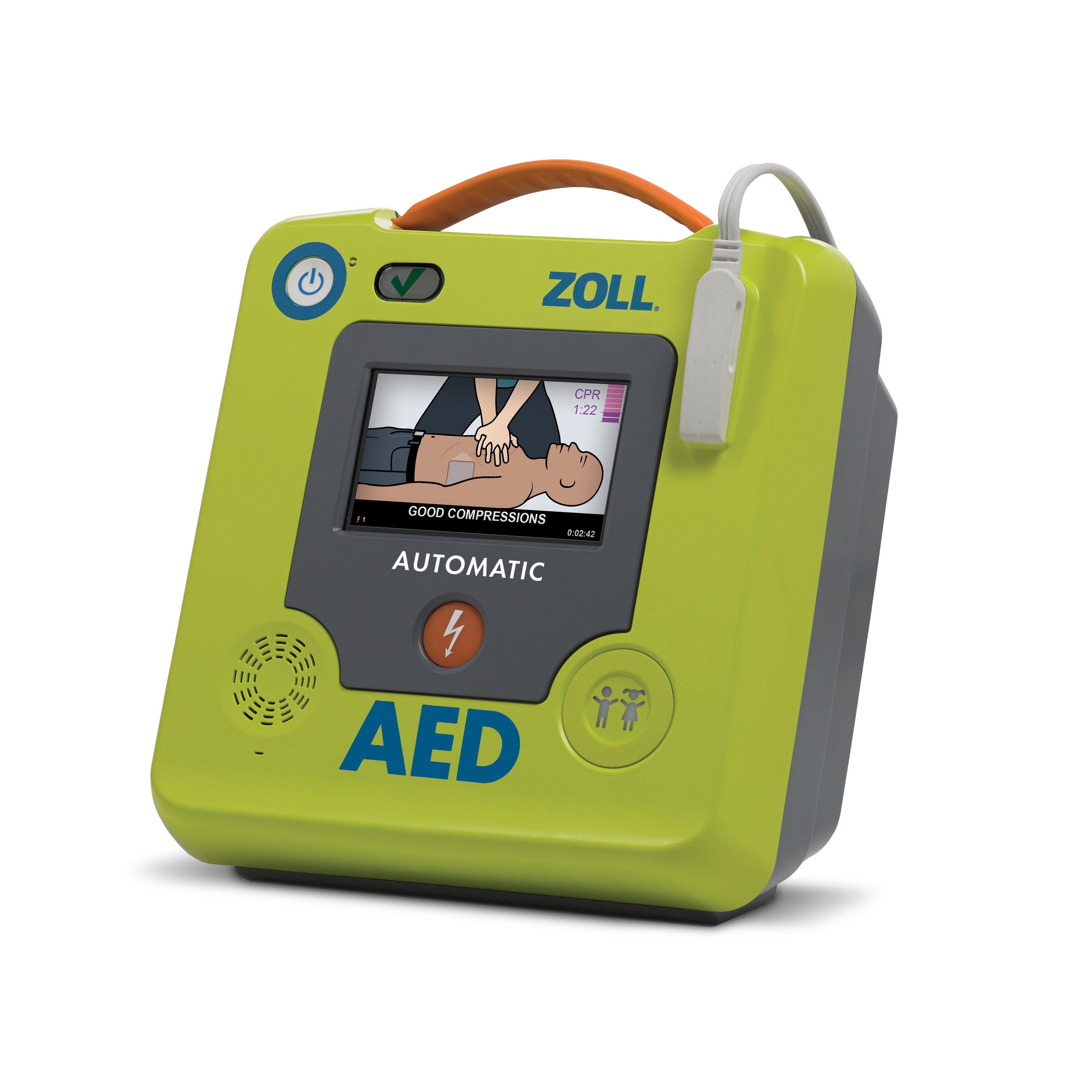 ZOLL AED 3 defibrillaattori ja varaosat
