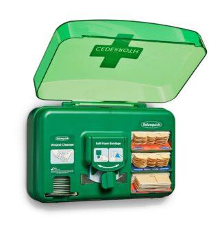 Haavanhoitoautomaatti auki