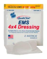 QuikClot 4x4 EMS dressing 3 kpl/pss