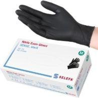 Selefa Sense nitriilikäsine musta 200 kpl/ras.